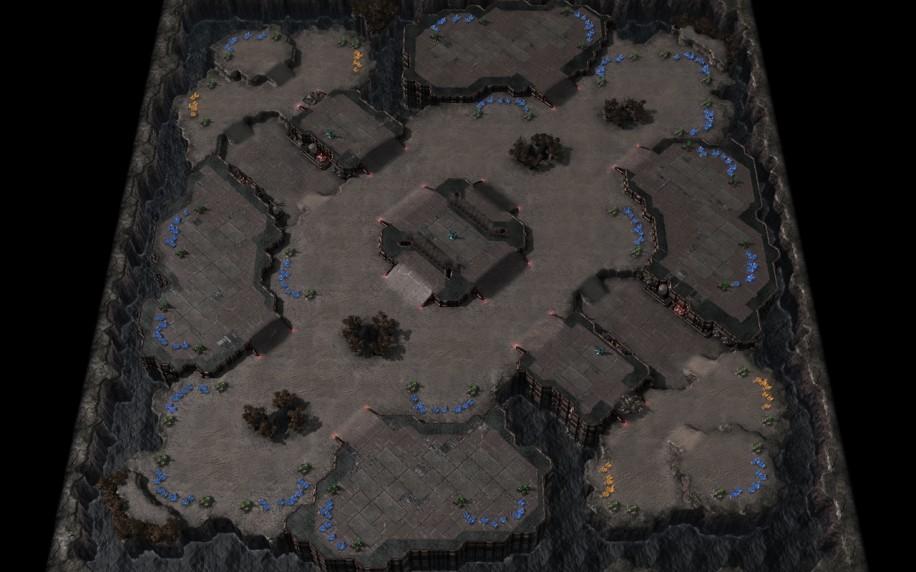 Starcraft 2 map: 4v4 1