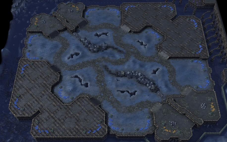Starcraft 2 map: 4v4 2