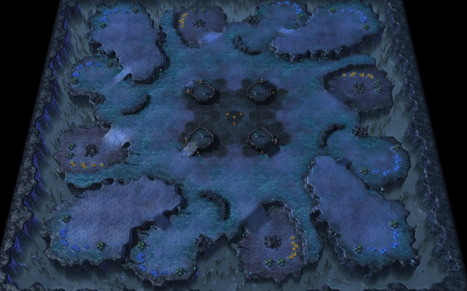 Starcraft 2 map: Rush 1