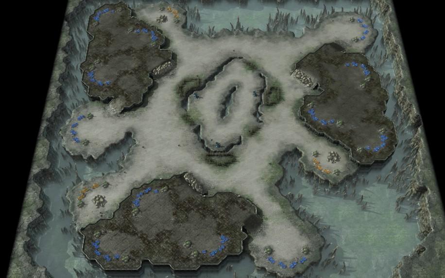 Starcraft 2 map: 2v2 2