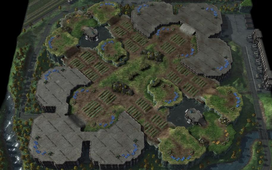 Starcraft 2 map: 3v3 1