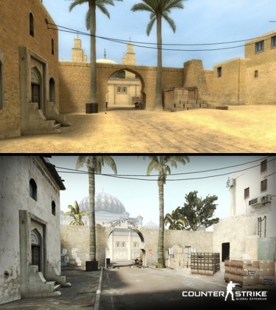 Графические различие между Counter-Strike:Source и Counter-Strike: Global Offensive