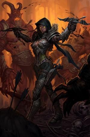 Охотник на демонов, она же Demon Hunter из Diablo 3