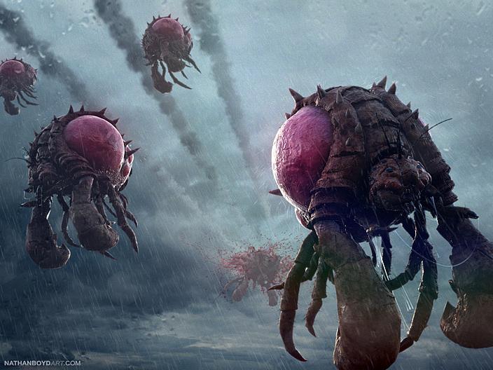 Фан-арт по Starcraft 2: Надзиратели