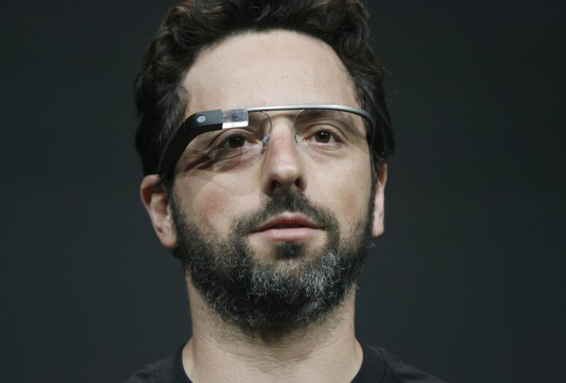 Сергей брин в очках Project Glass