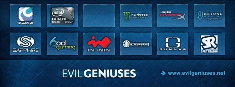 Evil Geniuses без SteelSeries - изображение со страницы проекта в Faceook.