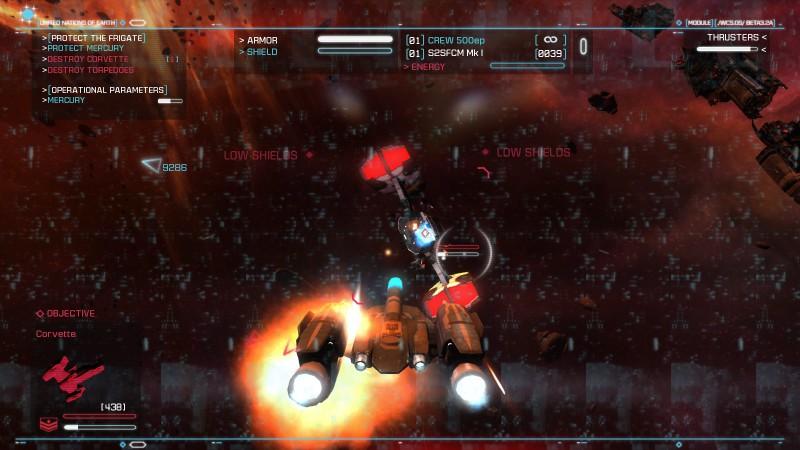 Strike Suit Zero в красном. Low Shields!
