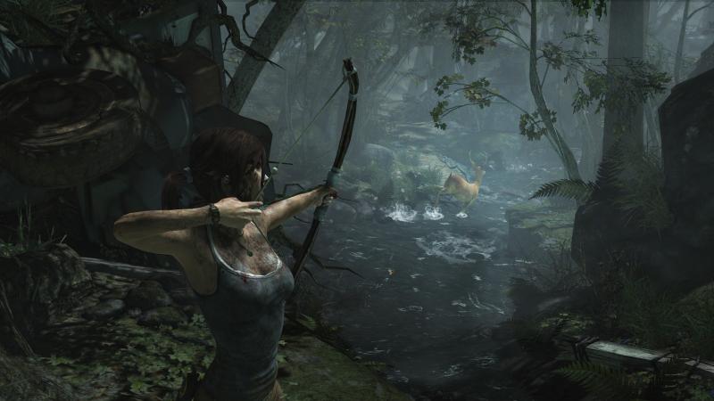 Лара постоянно шмонает убитых врагов в поисках патронов, но почему-то не берёт одежду. Даже, когда идёт снег
