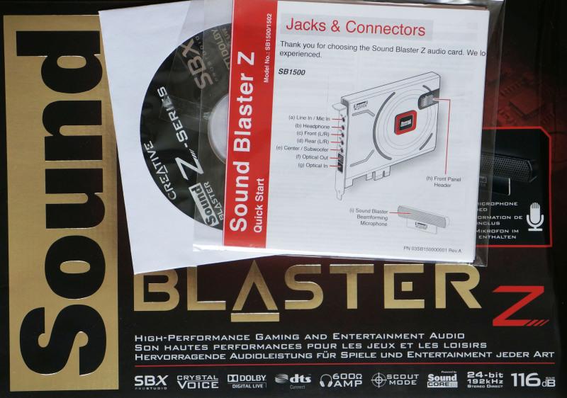 коробка sound blaster z