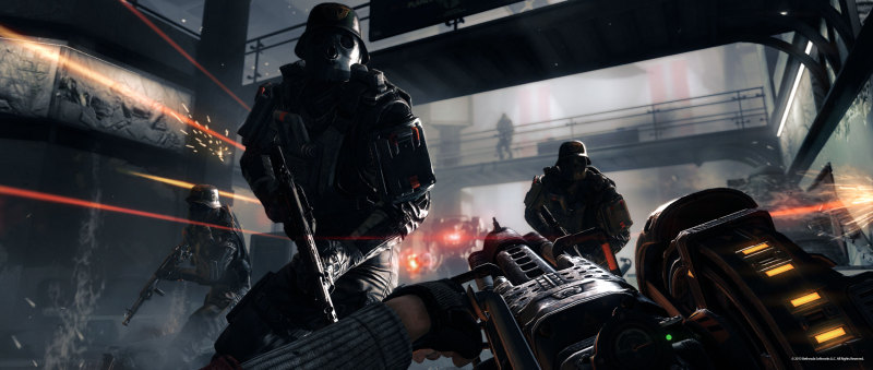 официасльный скриншот из Wolfenstein The New Order
