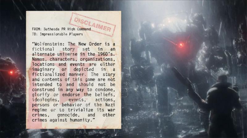Откровенно антинацисткое заявление Bethesda