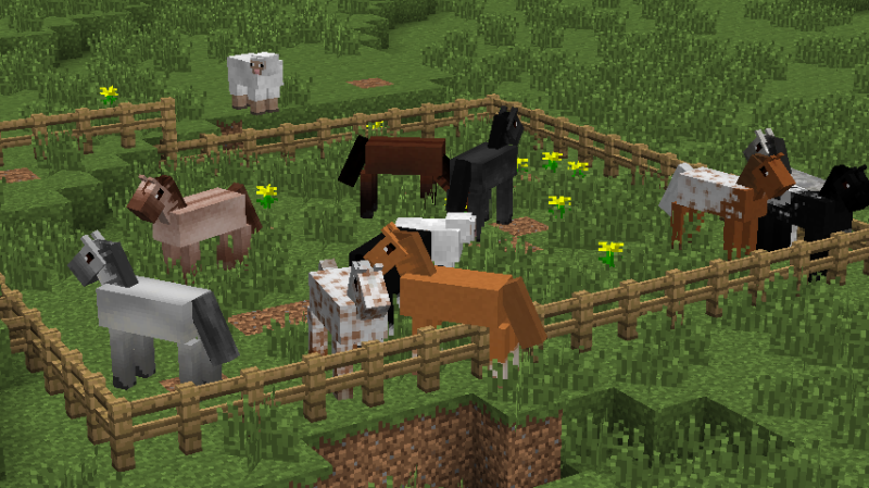 лошадки в minecraft