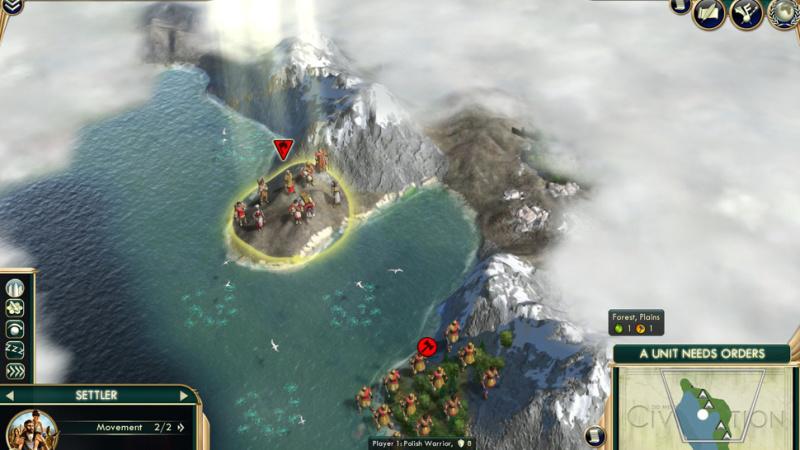 неудачный старт в civilization 5