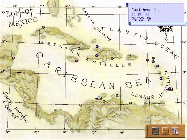 карта карибов sea legends