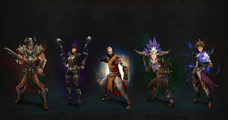 Колдун, Варвар, Чародей, Монах и Охотник на демонов