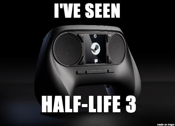 Текст: «Я видел / Half Life 3.»