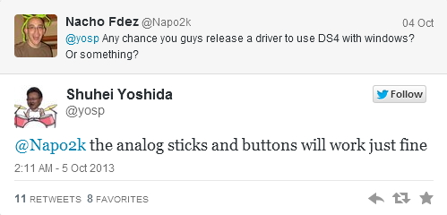 Yoshida Dualshok4 Twitter