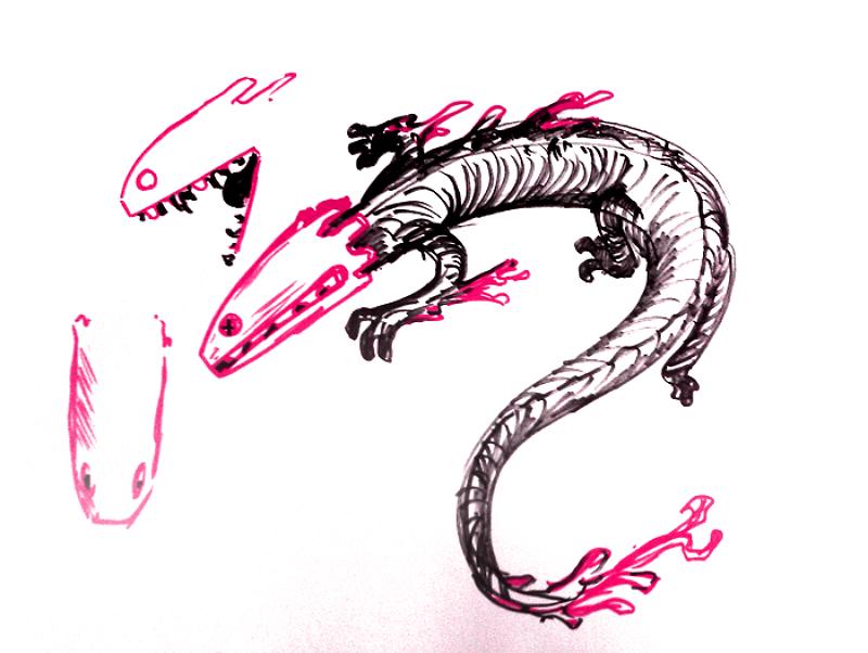 Sketch Lizard rain World