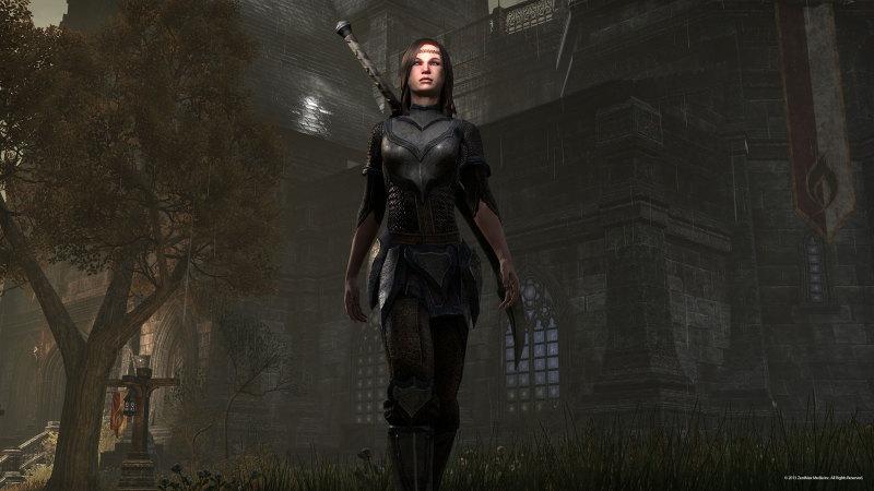 Breton wearing Redguard armor