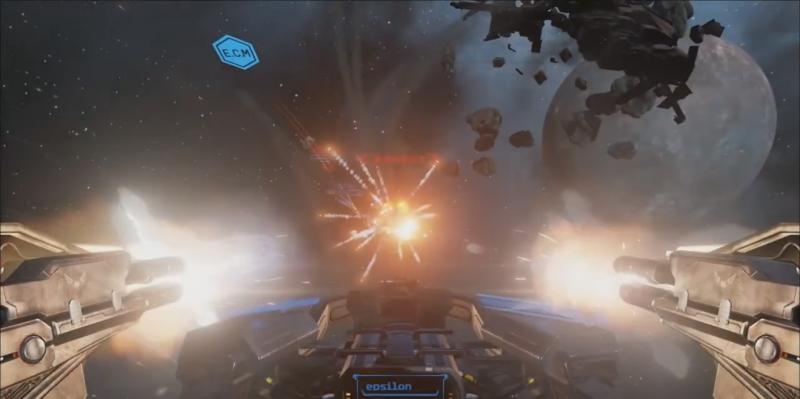 Eve Valkyrie pre-alpha gameplay