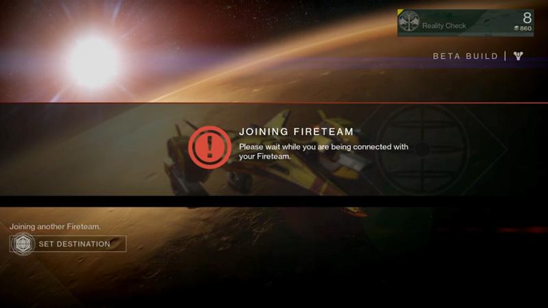 Destiny Beta joining