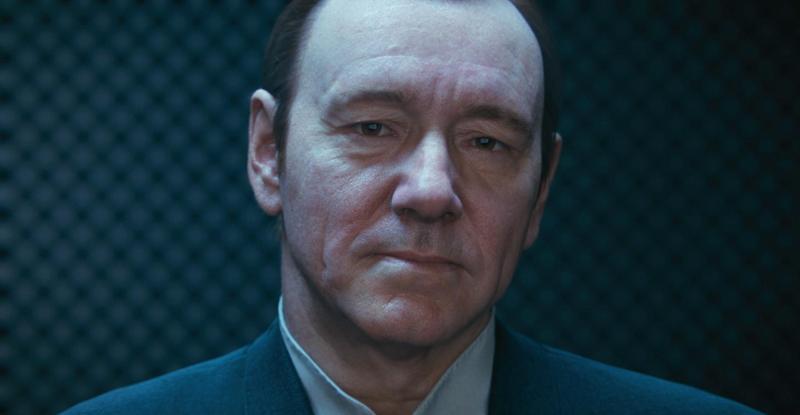 Кевин Спейси, получив здесь весьма колоритную роль главы «Атласа», щеголяет еще и в таком вот потрясающем CGI