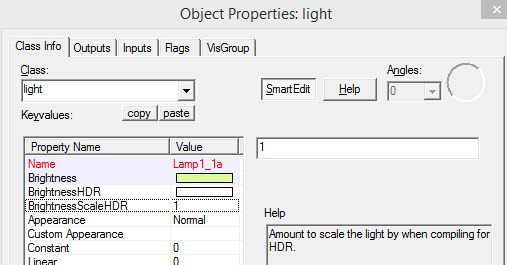 object properties light