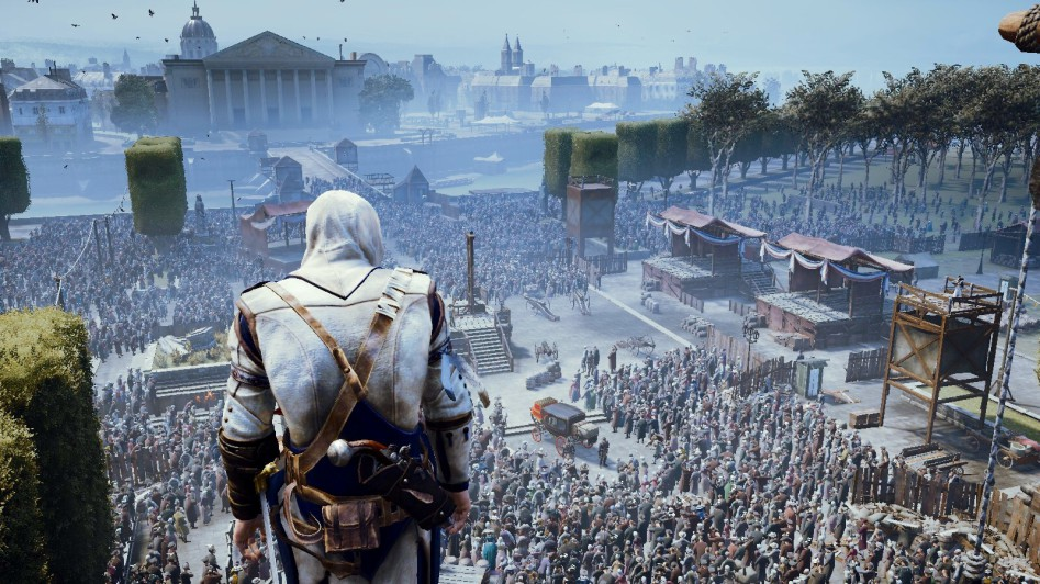 assassin's creed unity crowd