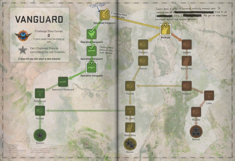 operation vanguard missions