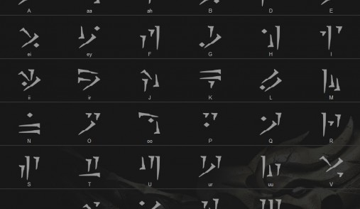 skyrim alphabet