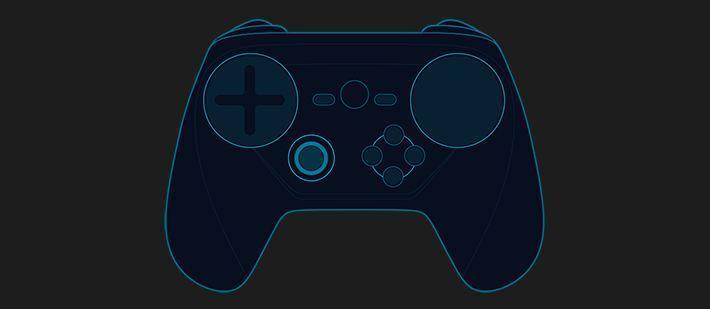Самый актуальный из утекшись в сеть дизайн Steam Controller.