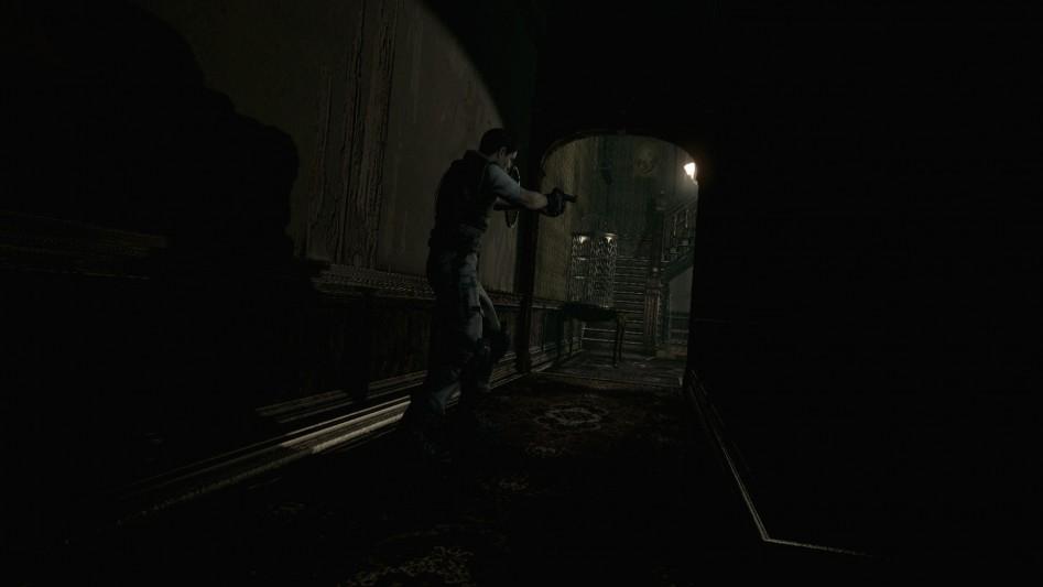 resident evil hd remaster corridor