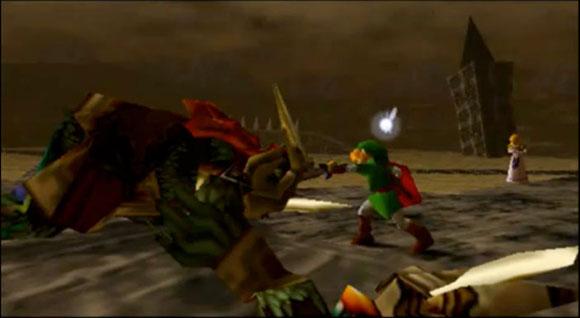 Игрок вонзает меч в лицо Гэнона, и он возвращается к своей обычной форме. Дальше с ним разберутся Зельда и остальные персонажи.