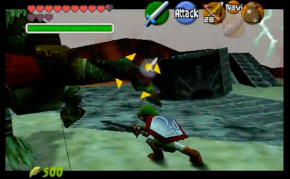 Игрок должен обходить Гэнона и бить по уязвимой точке на хвосте.