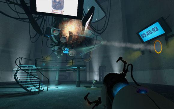 Игрок создаёт два портала так, чтобы ракеты, пущенные в него, летели в ГЛэДОС. После попадания с неё падает очередное ядро, которое нужно сжечь.