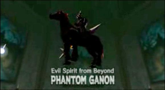 Битва с Фантомом Гэнона. Этот босс учит игрока отражать жёлтую энергию мечом.