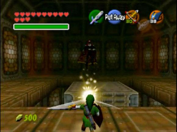Игроку нужно махать мечом, отбивая жёлтую энергию обратно в Гэнона.