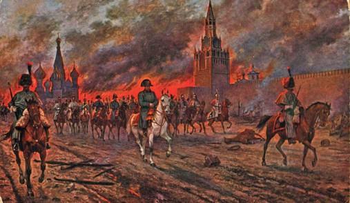 Napoleon pokidaet Kreml