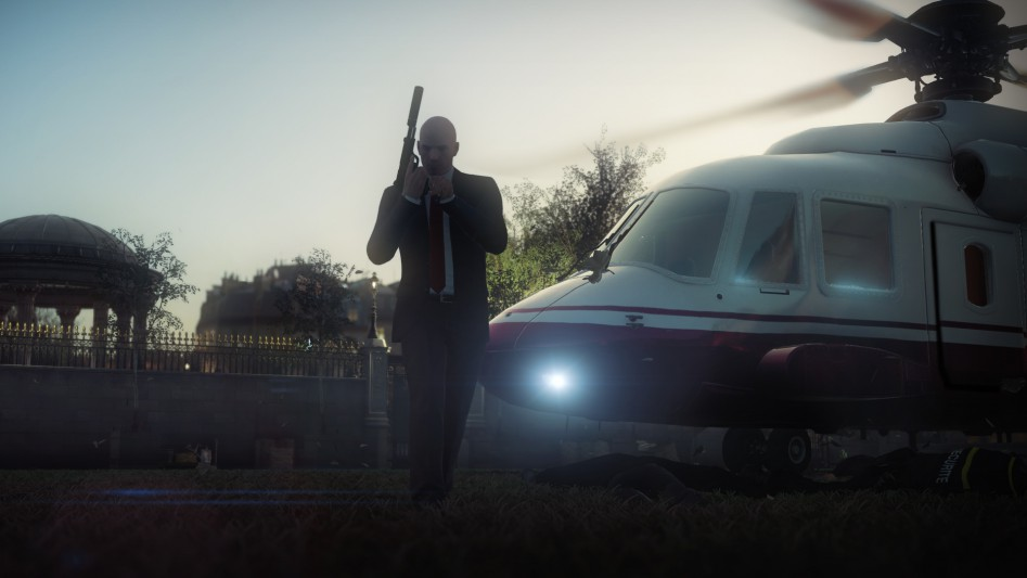 hitman helicopter