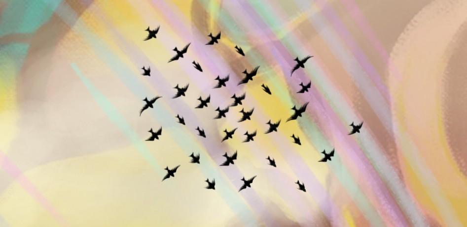 Gathering Sky Mountains