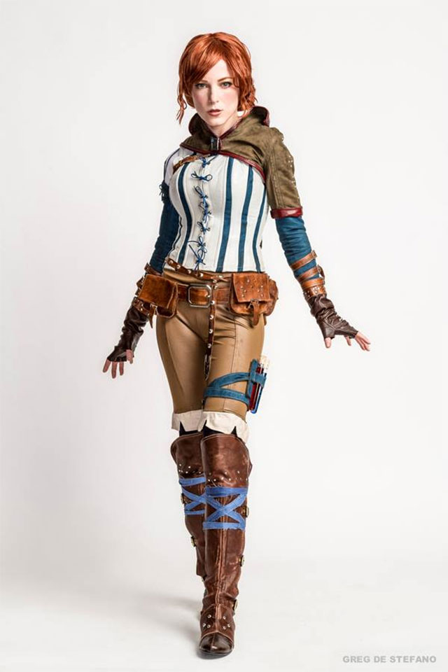 Triss из The Witcher в исполнении Jessica Dru