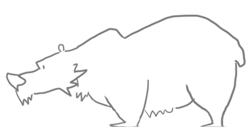 Ранний эскиз медведя