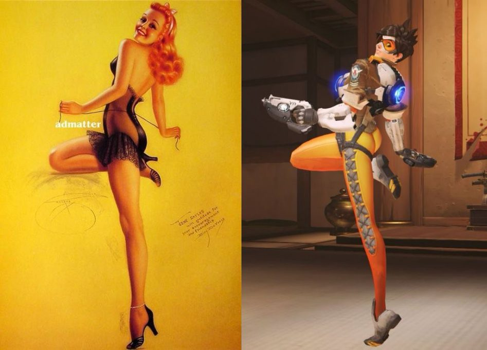 tracer pinup pose