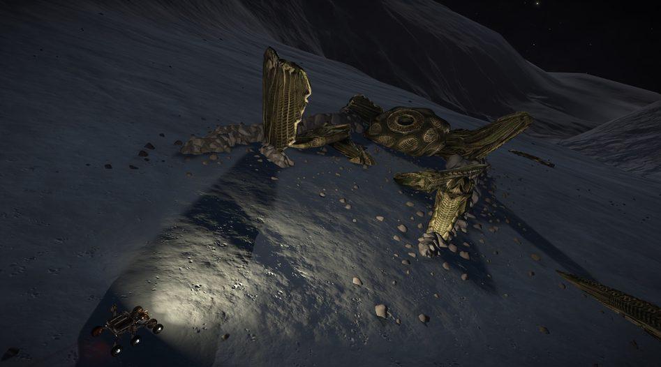 elite dangerous found spaceship