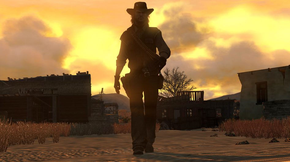 Red Dead Redemption Cowboy and Sunset