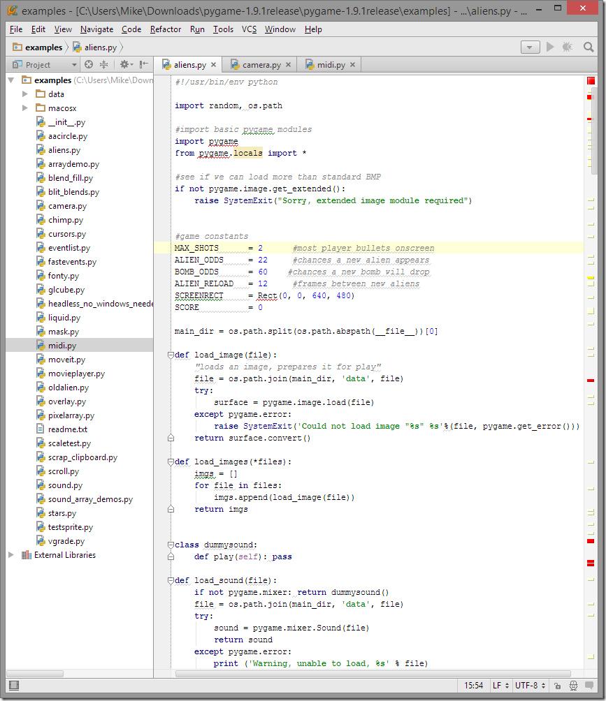 Код Python в PyCharm