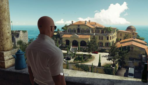 Sapienza Hitman on balcony