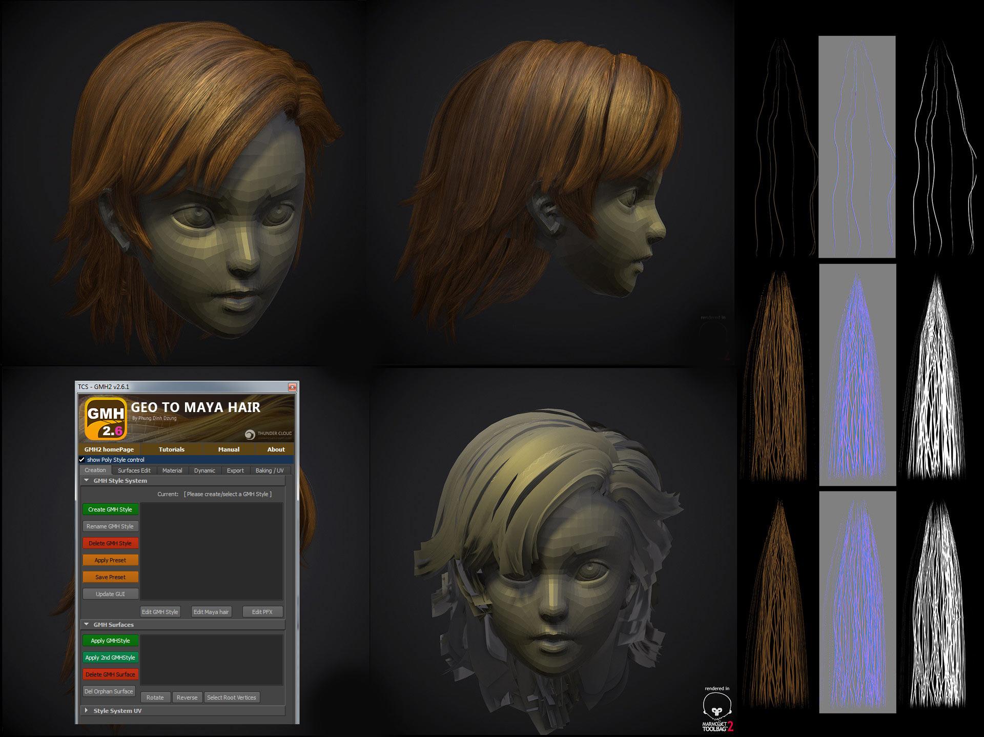 Создание волос в 3д