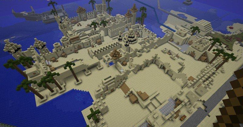 Скачать карту de_dust_2x2 для Minecraft