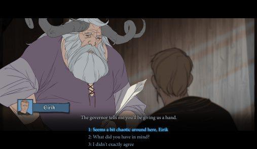 videogame dialogues banner saga
